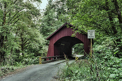 Photograph - Yachats Covered Bridge  by HW Kateley