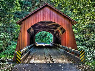 Photograph - Yachats River Covered Bridge by Thom Zehrfeld