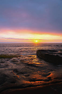 Photograph - Yachats Sunset by Tyra OBryant