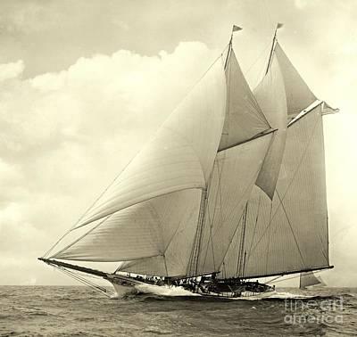 Yacht America 1910 Art Print by Padre Art