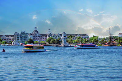 Yacht And Beach Club Walt Disney World Art Print by Thomas Woolworth