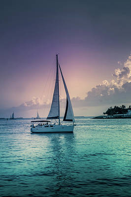 Mallory Square Photograph - Yacht At The Atlantic Ocean by Art Spectrum