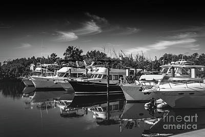 Photograph - Yacht Bw Series 8264 by Carlos Diaz