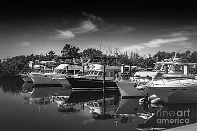Photograph - Yacht Bw Series 8264 by Carlos Diaz