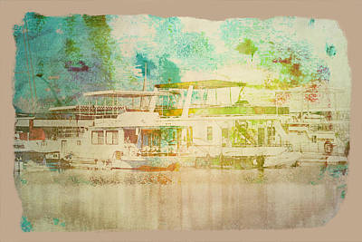 Digital Art - Yacht Club Afternoon by Bartz Johnson