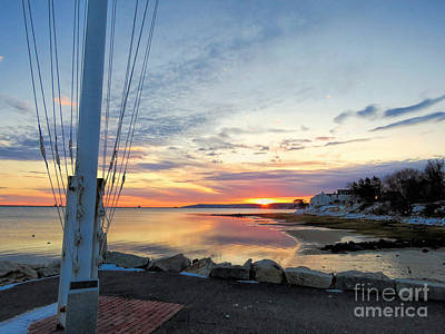 Photograph - Yacht Club Sunrise by Janice Drew
