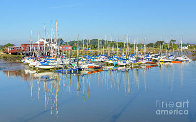 Water Reflection Photograph - Yacht Club by Geoff Smith