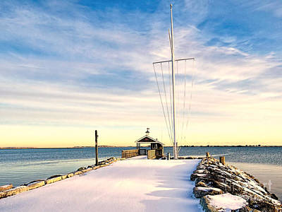 Photograph - Yacht Club Launch Shack by Janice Drew