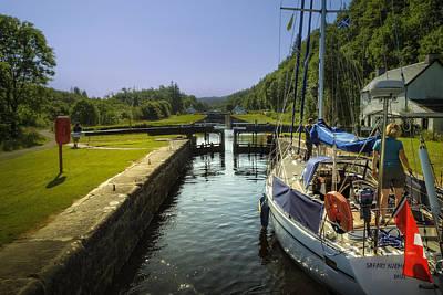 Images Photograph - Safari Njema Yacht Crinan Canal Scotland by Alex Saunders