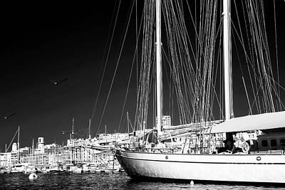 Yacht Docked In Marseille Art Print