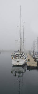 Yacht Doesn't Go In The Fog Art Print