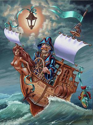 Painting - Yacht Glik by Victor Molev