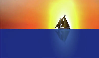 Digital Art - Yacht In Sunlight by Michael Goyberg