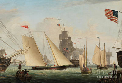 Yacht Northern Light In Boston Harbor Art Print