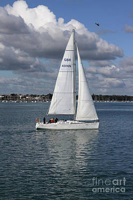Photograph - Yacht Portsmouth Harbour by Julia Gavin
