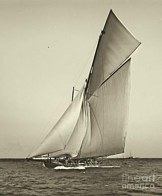 Yacht Shamrock Racing Americas Cup 1899 Art Print by Padre Art