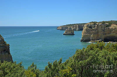 Cliffs Photograph - Yacht Visiting The Cliffs In Lagoa by Angelo DeVal