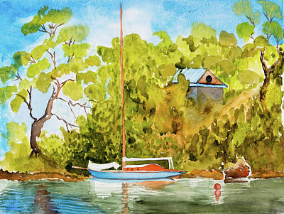 Yacht Weene' In Barnes Bay  Art Print