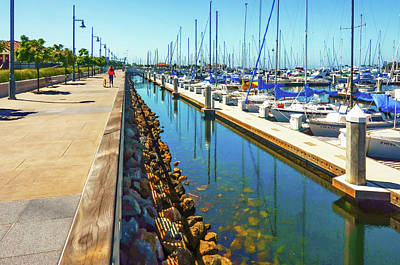 Photograph - Yacht Yard by Joseph Hollingsworth