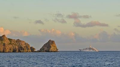 Photograph - Yachting In St. Barts by CR  Courson