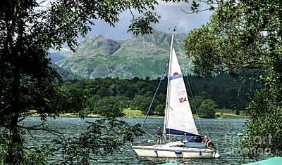 Yachting Lake Windermere Art Print