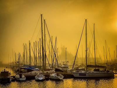 Photograph - Yachts At Sunrise by Alistair Lyne