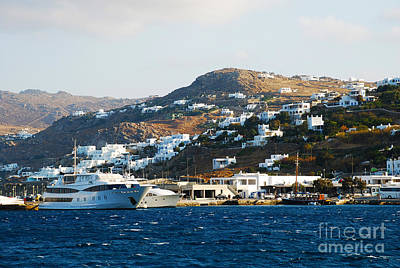 Aegean Sea Photograph - Yachts Docked At Port Skala Greece On Patmos Island by Just Eclectic
