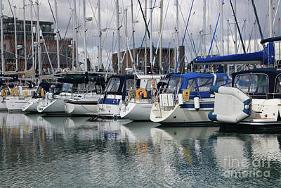 Photograph - Yachts In Marina  by Julia Gavin