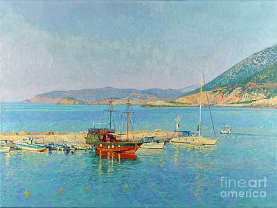 Painting - Yachts In The Bay Of Bali by Simon Kozhin