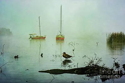 Photograph - Yachts On A Misty Sunrise by Stuart Row