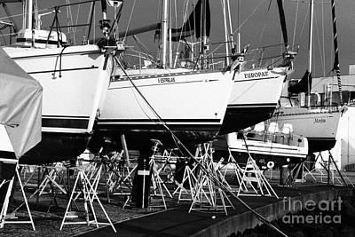 Azoren Photograph - Yachts On Drydock by Gaspar Avila