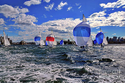 Photograph - Yachts On The Harbor By Kaye Menner by Kaye Menner