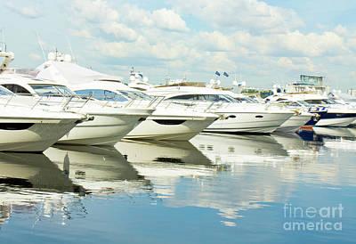 Photograph - Yachts On Water by Irina Afonskaya