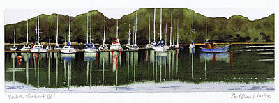 Scotland Painting - Yachts Tarbert IIi by Paul Dene Marlor