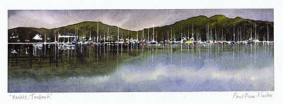Scotland Painting - Yachts Tarbert by Paul Dene Marlor