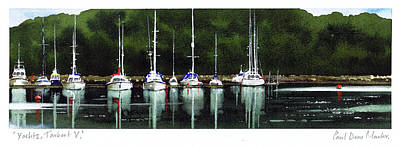 Scotland Painting - Yachts Tarbert V by Paul Dene Marlor