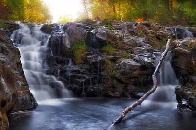 Yacolt Falls In Autumn Art Print by David Gn