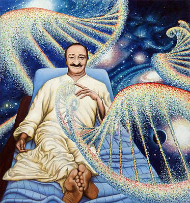 Meher Baba Painting - Yad Rakh by Nad Wolinska