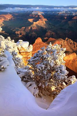 Yaki Photograph - Yaki Point Snowscape by Mike Buchheit