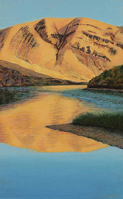 River Rafting Painting - Yakima Canyon by Laurie Stewart