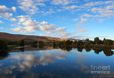 Yakima River Mirror Art Print by Mike Dawson