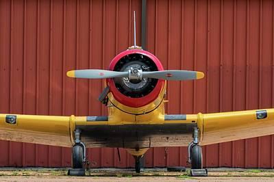 Photograph - Yale And Hangar - 2018 Christopher Buff, Www.aviationbuff.com by Chris Buff