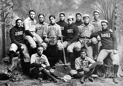 Yale Baseball Team, 1901 Art Print by Granger