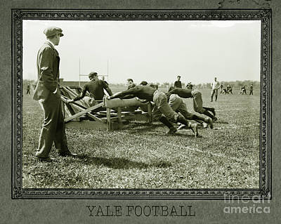 Yale Photograph - Yale Football by Jon Neidert