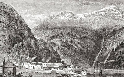 British Columbia Drawing - Yale, On The Fraser River, British by Vintage Design Pics