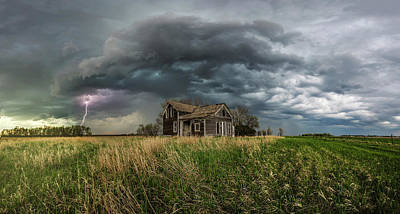 Photograph - Yale Supercell Pano  by Aaron J Groen