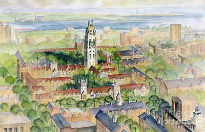 Painting - Yale University by Melly Terpening