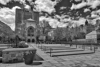 Photograph - Yale University Sterling Library II Bw by Susan Candelario