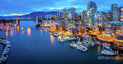 Reflective Photograph - Yaletown Panorama by Inge Johnsson