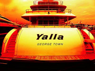 Photograph - Yalla Yacht Beirut by Funkpix Photo Hunter